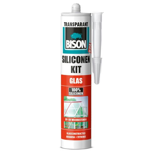 Bison Silicone Glass Sealant Transparent 310 ml