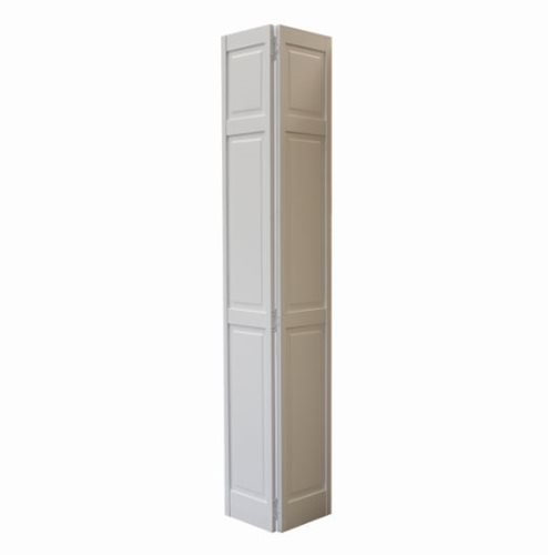 Frameport FR-8 6-Panel Pine White Interior Closet Bi-fold Door 30 x 80 inch.