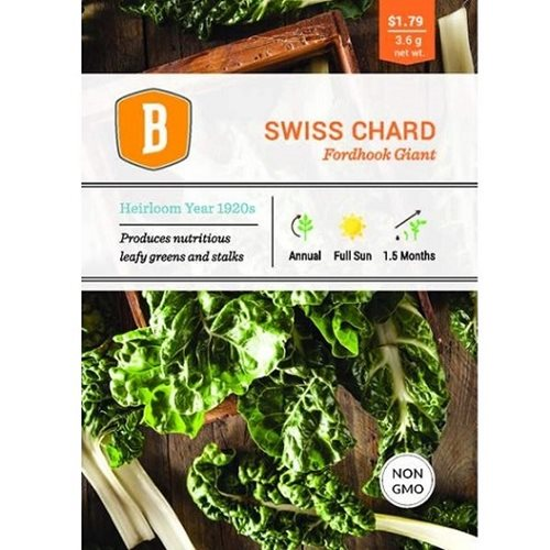 Bentley Swiss Chard - Fordhook Giant Seed