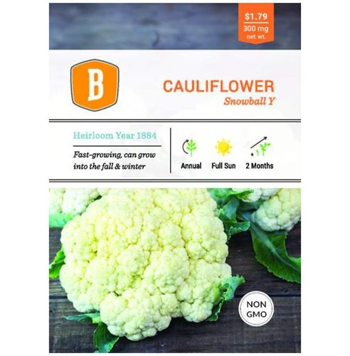 Bentley Cauliflower - Snowball Improved Seed