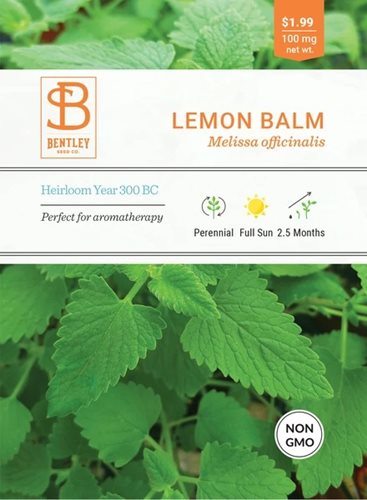 Bentley Lemon Balm Melissa Officinalis Seed
